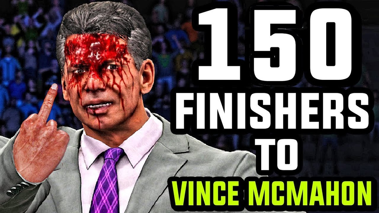 WWE 2K 150 Finishers To Mr. McMahon!