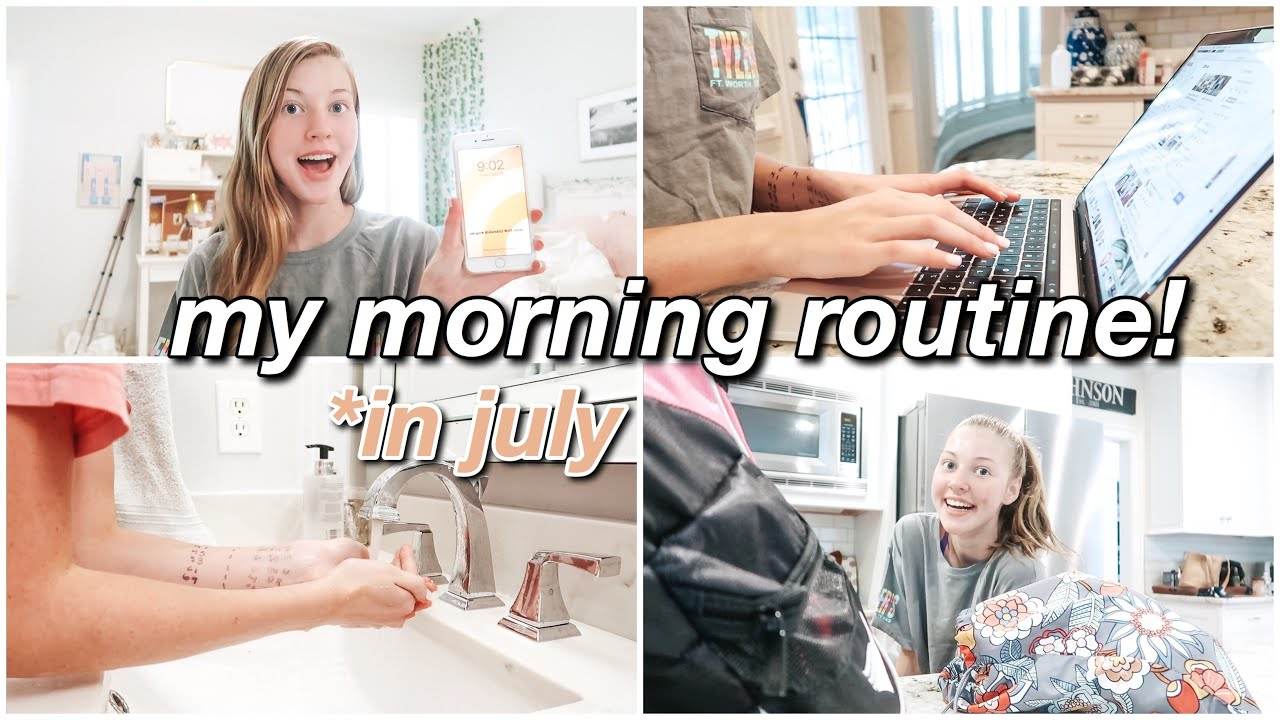 MY UPDATED SUMMER MORNING ROUTINE!!! ~for the month of july~
