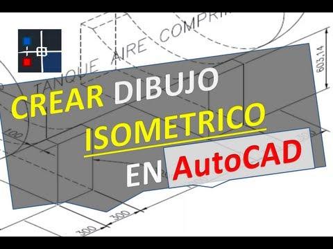 Como crear un dibujo isomtrico en AutoCAD  YouTube