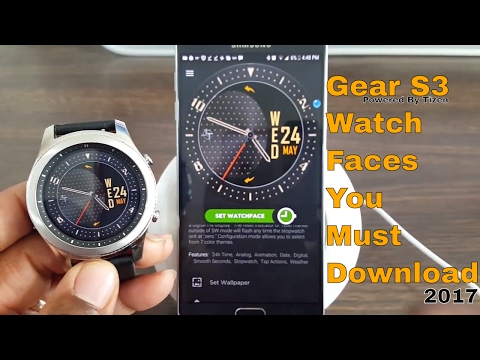 Gear S3 Watch Faces You Must Download 2017