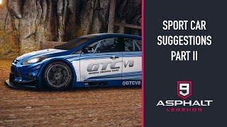SPORT CAR SUGGESTIONS (PART II) | ASPHALT 9