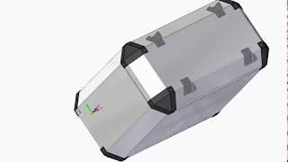 Progetto 3D valigia artigianale moto alluminio 37 lt - handmade aluminum motorcycle case