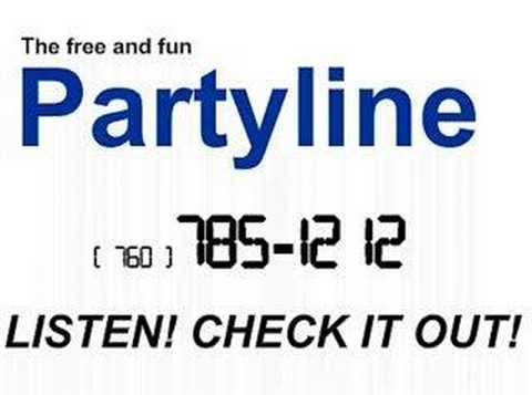 free party line numbers in california