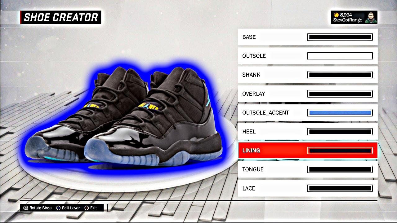 NBA 2K17 Shoe Creator   HOW TO MAKE AIR JORDAN Gamma 11!   2K17 Air Jordan  Gamma Blue 11 Tutorial - YouTube