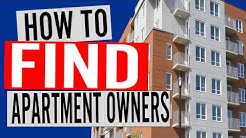 How To Find Multi-Family Apartment Owners