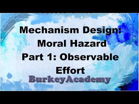 Principal Agent Models Part 1: Moral Hazard with Observability