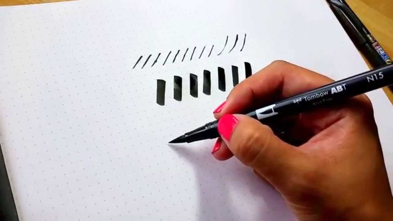Brush calligraphy tips how to hold your brush pen at an angle