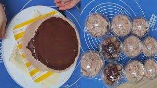 홈베이킹/홈베이킹브이로그/초코케이크와 초코 컵케이크 만…