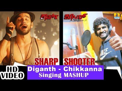 Sharp Shooter - Kannalle - Mashup Song Making | feat. Diganth, Chikkanna