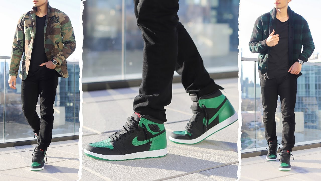3 Ways To Style Air Jordan 1 Pine Green Tailored Hype Youtube