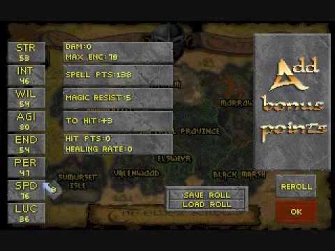 Daggerfall Character Creation Guide Remake - YouTube
