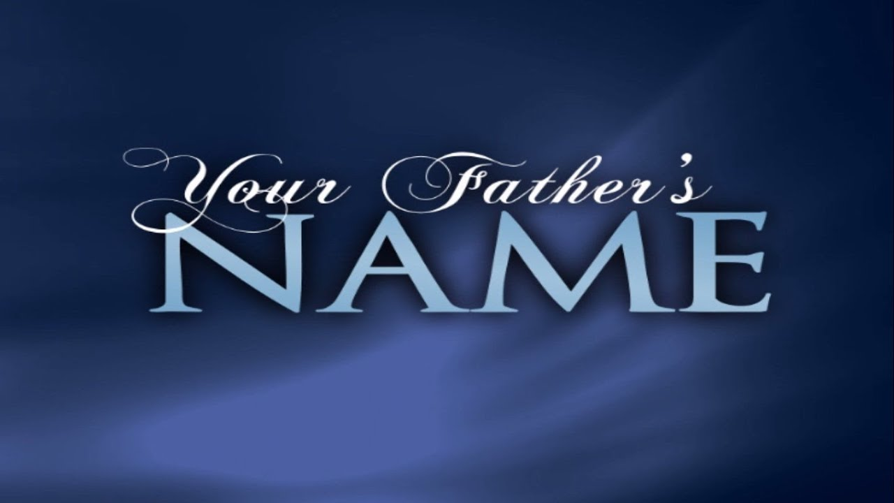 What is the Fathers REAL name? should we use His proper name?
