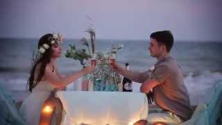 Романтическая свадьба на берегу моря