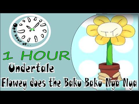 Flowey does the Baku Baku Nya Nya -- Undertale 1 hour | One Hour of...