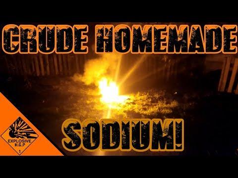 Homemade Sodium metal!