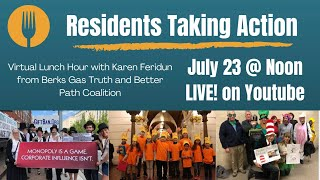 July 23rd - Residents Taking Action: Virtual Lunch Hour with Karen Feridun