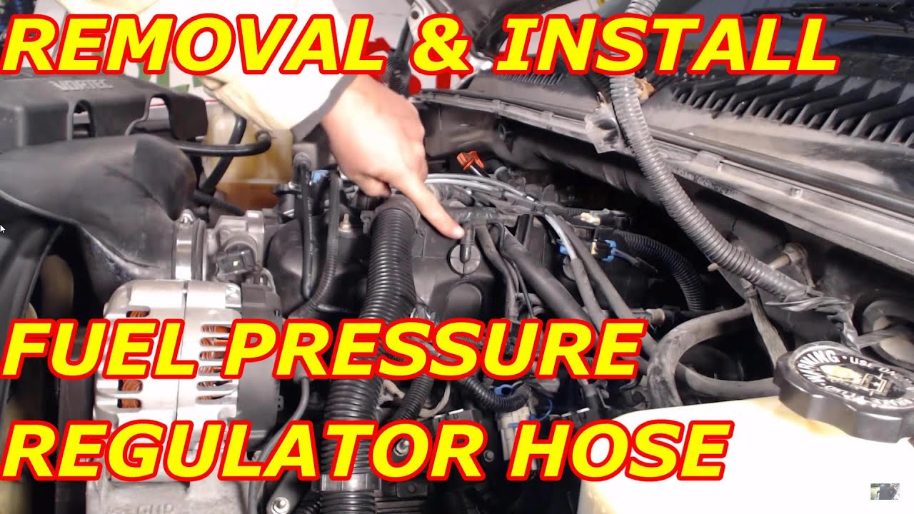 Fuel Pressure Regulator Vacuum Hose Replacement Youtube 1995 Ford Taurus Engine Diagram