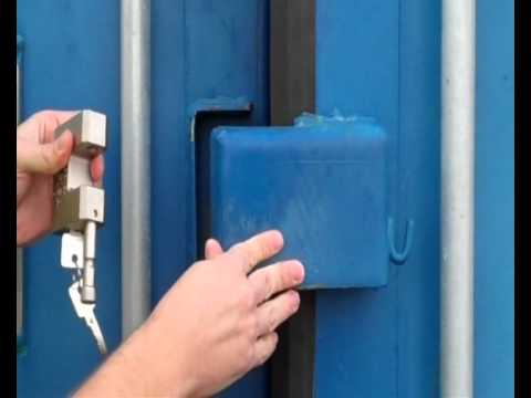 Securing A Container With A Lock Box And Security Lock