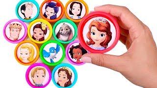 Sorpresas divertidas de La Princesa Sofía 👑🎊 Abrimos botes Play Doh de colores
