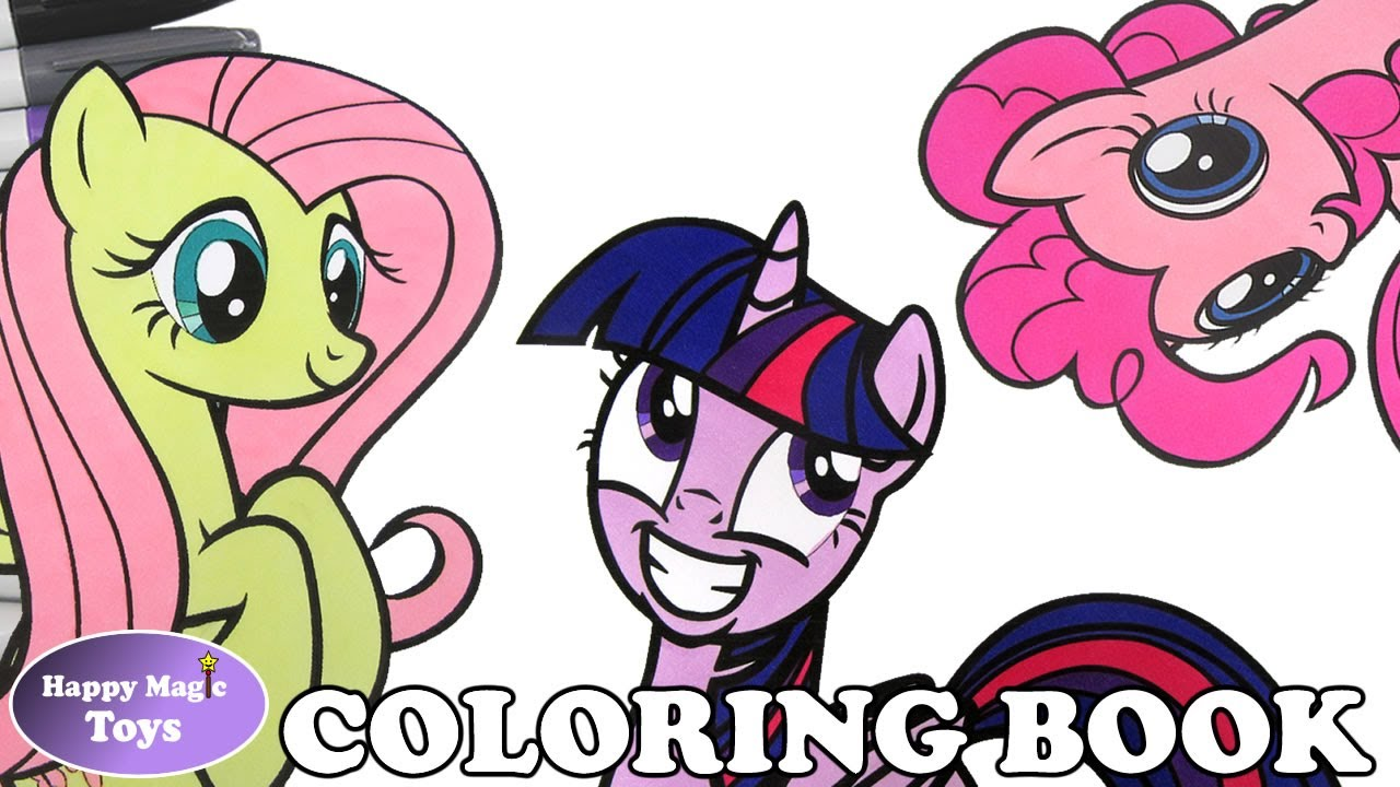mlp coloring book pages compilation fluttershy pinkie twlight my