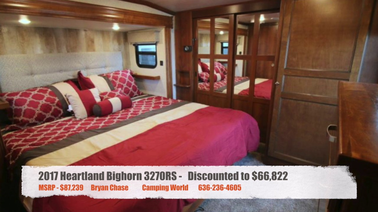 Camping World Council Bluffs >> 2017 Heartland Bighorn 3270rs Fifth Wheel Omaha Ne Council Bluffs Ia