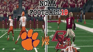 NCAA Football 19 #17 BOSTON COLLEGE vs #2 CLEMSON NCAA 14 Updated Rosters