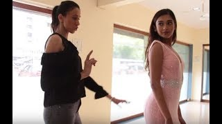 Gayatri Bhardwaj's Ramp Walk Training Session With Alesia Raut
