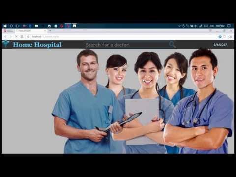 Health-care Medical Hospital Web Designe With HTML5 CSS3 JS PHP MySQL