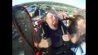 Dad poops on roller coaster