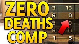 ZERO DEATHS! FLAWLESS CS GO COMPETITIVE MATCH