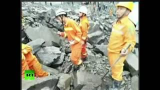 Более 140 человек пропали без вести в результате схода оползня в Китае