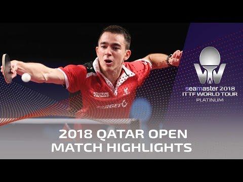 2018 Qatar Open Highlights I Lin Gaoyuan vs Hugo Calderano (1/2)