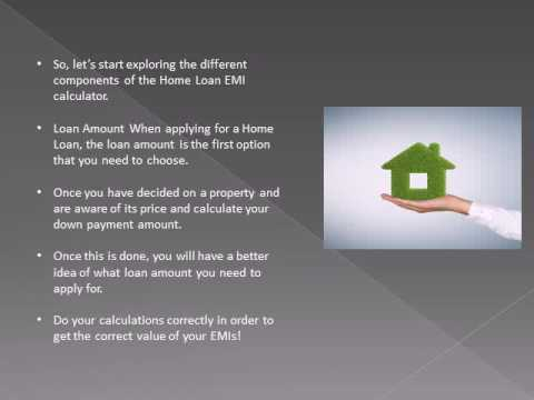 home loan emi calculator how it works youtube
