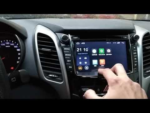 Обзор штатной магнитолы для Hyundai I30