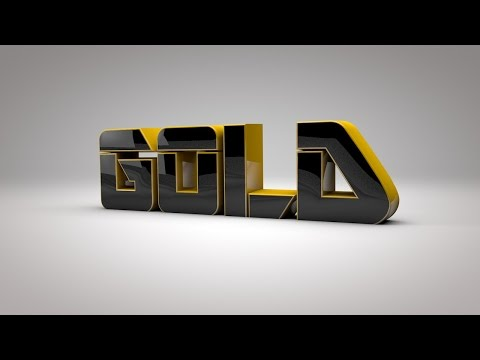 Cinema 4D & After Effects Tutorial -  How To Make Fantastic Gold Intro @DDTuts