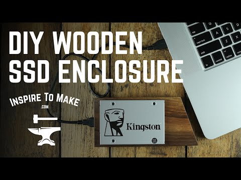 How to mod a SATA drive case - Wood Kingston SSD drive enclosure