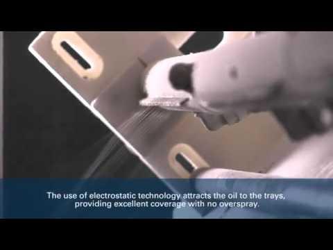 Electrostatic Spray Coating   Pita Bakery Application