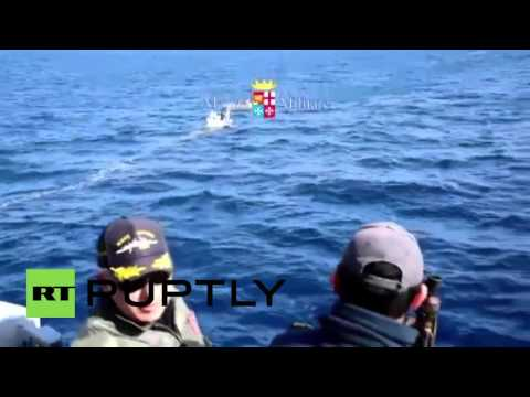 Italy: Italian Navy intercepts 130 migrants off Libyan coast