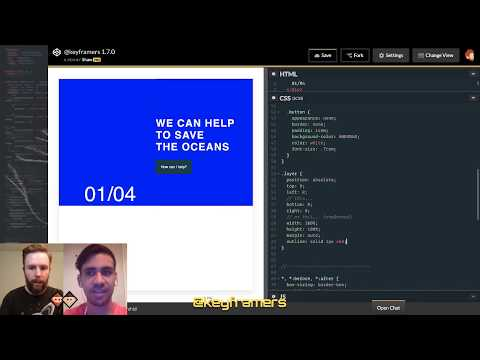 Oceanic Overlays 🌊| CSS-only Carousel | @keyframers 1.7.0 | Collaborative Coding Live Stream