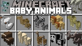 Minecraft BABY ANIMAL MOD / PLAY WITH BABY MOBS AND SEE THEM GROW!! Minecraft