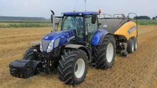 New Holland T7.270 Blue Power + New Holland BigBaler 1290 in action!