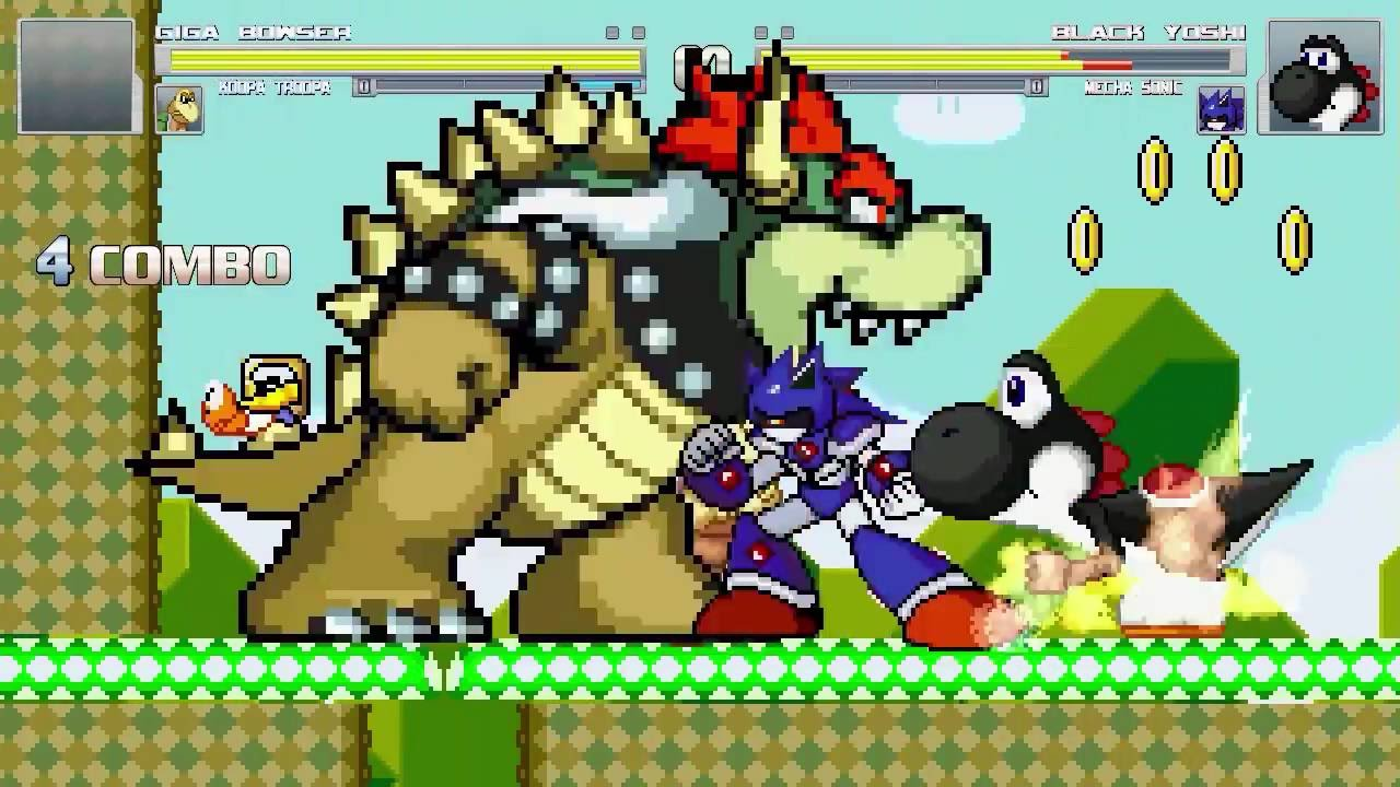 An Mugen Request 607 Giga Bowser Koopa Troopa Vs Black Yoshi Mecha Sonic