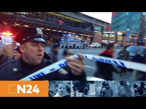 Explosion nahe Times Square: Polizei nimmt verletzten Tatverdächtigen in New York fest