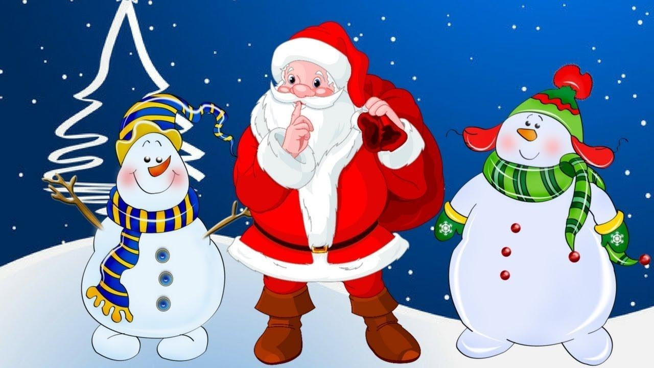 Картинки с новогодней темой снеговик дед мороз елка