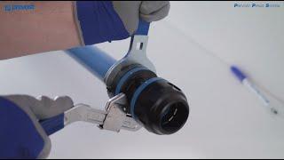 ¿Cómo montar el enchufe en el tubo? - Red de aire comprimido de aluminio PREVOST PIPING SYSTEM - ES