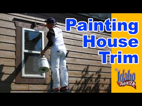 How To Paint Exterior House Trim.  Simple Home Painting Tips.