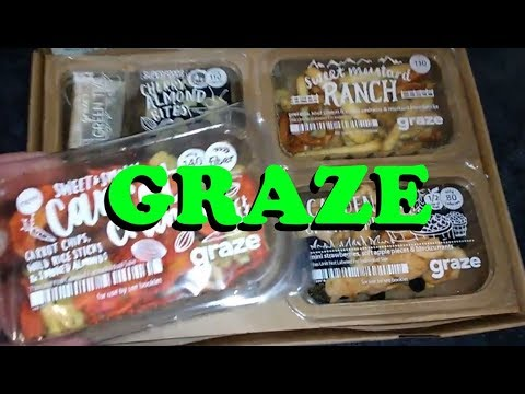 Unboxing and review of Graze, Healthy Snacks shipped to your door!  Is it worth it?