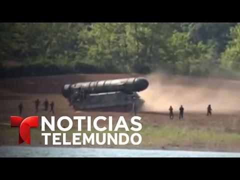 Corea del Norte reveló video de lanzamiento de misil | Noticias | Noticias Telemundo
