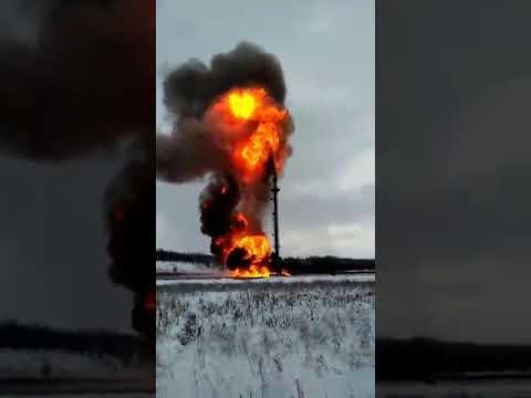 Поджог газового факела который потух из за перелива нефтью