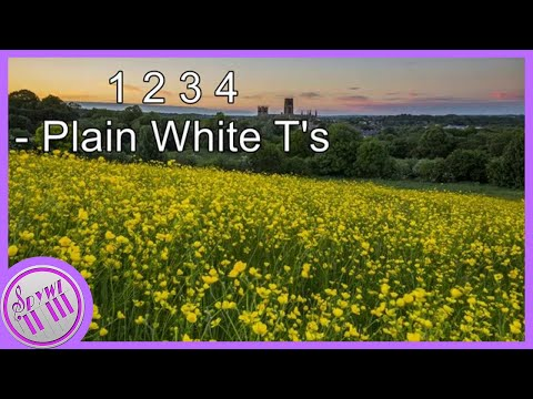 1 2 3 4 Plain White Ts  Piano
